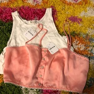 Free People Bundle Of 2 Tops Size M NWT